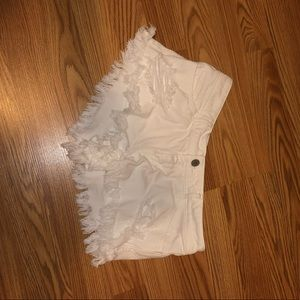 Hollister size 1. Heavy distressed white short